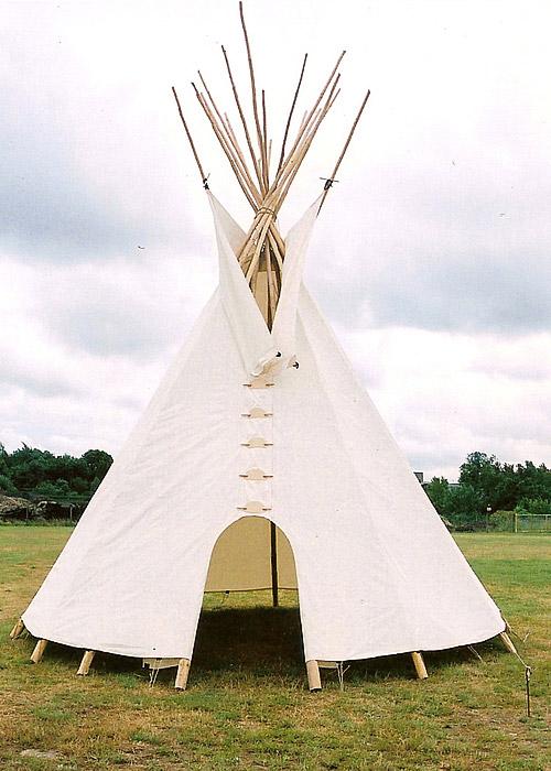 tipi fabrication dcor tipi tente western denver tent. Black Bedroom Furniture Sets. Home Design Ideas